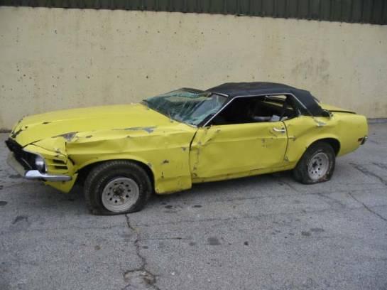 1970 ford mustang 3024v yellow image 1