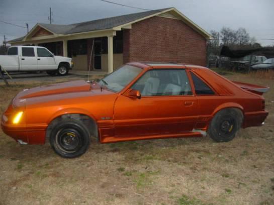 1985 Ford Mustang - Orange