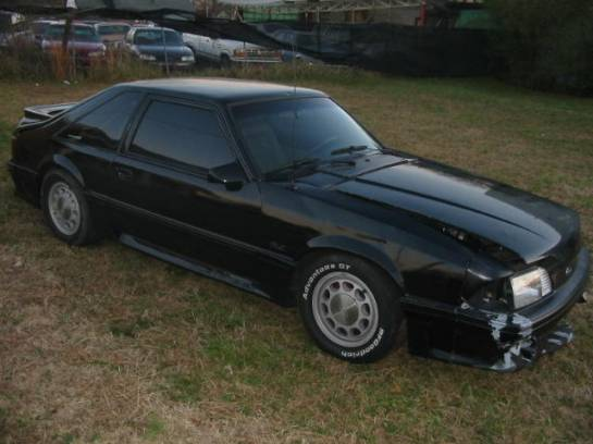 1987 Ford Mustang 5.0L HO T-5 - Black - Image 1