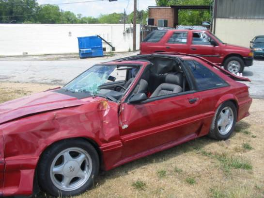 1987 Ford Mustang 5.0 HO T-5 - Red - Image 1