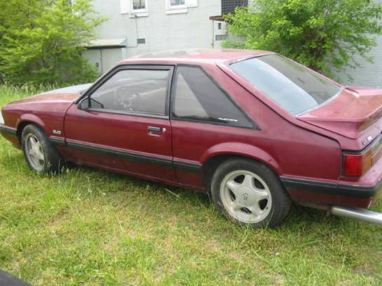 1987 Ford Mustang 5.0 HO AOD - Burgundy - Image 1