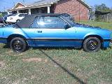 1986 Ford Mustang V-6 Auto - Blue/Black Top - Image 1