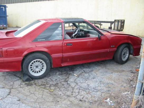 1987 Ford Mustang 5.0 AOD Automatic - Red - Image 1