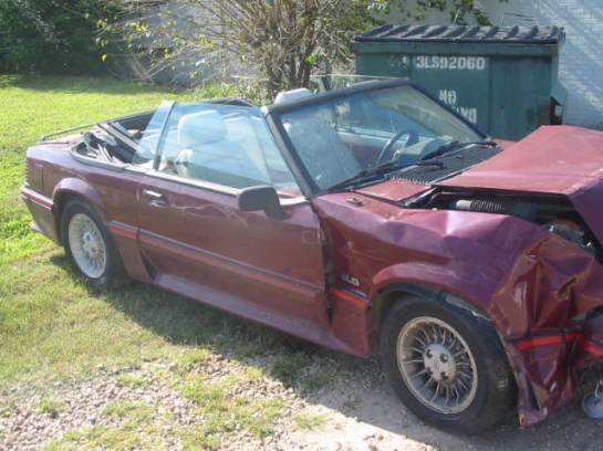 1988 Ford Mustang 5.0 HO Automatic - Red - Image 1