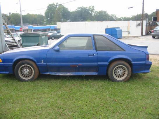 1988 Ford Mustang 5.0 HO Automatic - Blue - Image 1