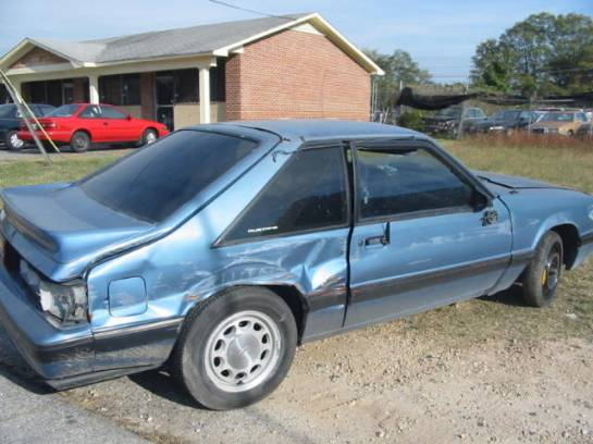 1988 Ford Mustang 5.0 HO T-5 - Blue - Image 1