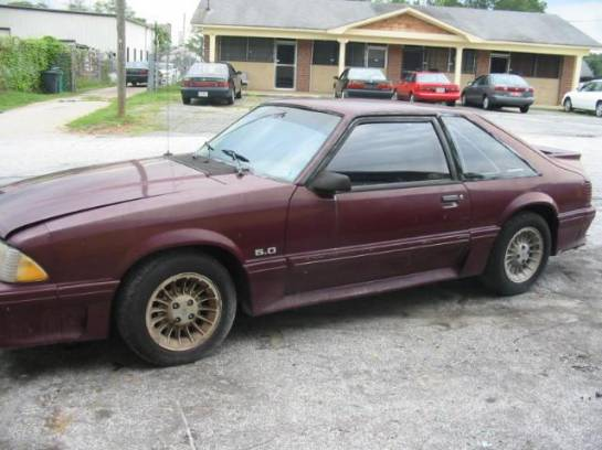 1988 Ford Mustang 5.0 HO Automatic AOD - Burgundy - Image 1