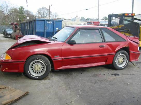 1988 Ford Mustang 5.0 HO Automatic AOD - Red - Image 1