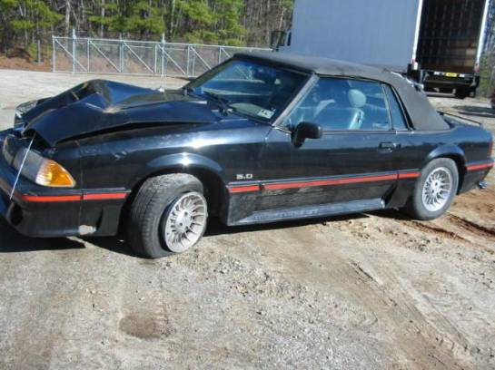 1988 Ford Mustang 5.0 HO AOD Automatic - Black - Image 1