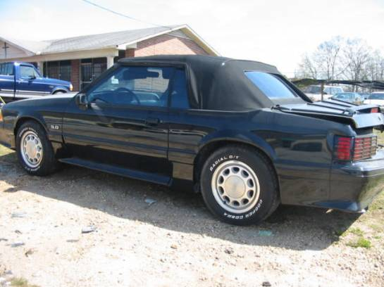 1989 Ford Mustang 5.0 Automatic - Black w/ black top - Image 1