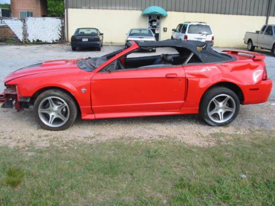 1999 Ford Mustang Convertible 4.6 SOHC 4R7W Manual Transmission- Red - Image 1