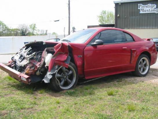 2000 Ford Mustang 4.6 Automatic- Red - Image 1