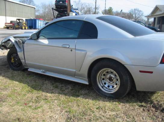 2000 Ford Mustang Coupe 4.6SOHC T45 Transmission- Silver - Image 1