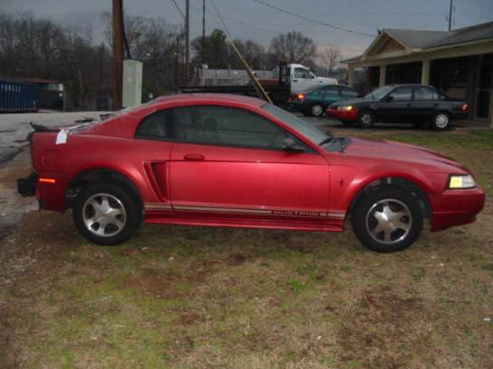 2000 Ford Mustang Coupe 3.8L AODE Transmission- Red - Image 1