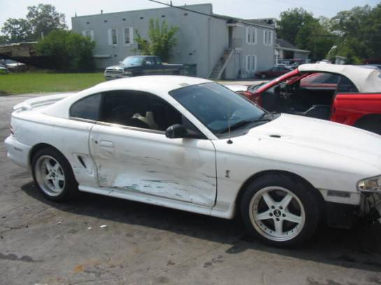 1995 Ford Mustang Modified 5.0 HO T-45 - White - Image 1