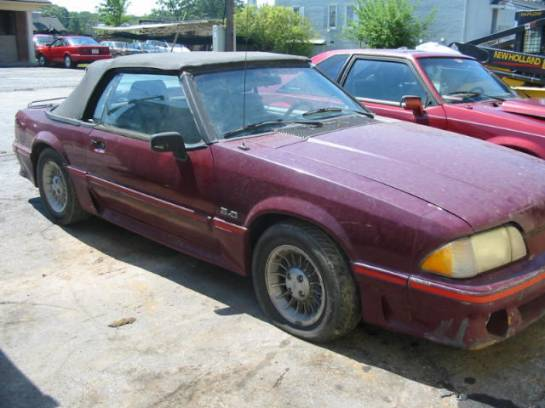 1989 Ford Mustang 5.0 AOD Automatic - Burgundy - Image 1