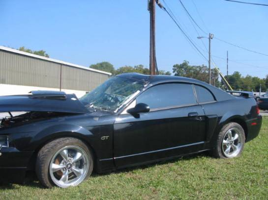 2001 Ford Mustang 4.6L SOHC Automatic- Black - Image 1
