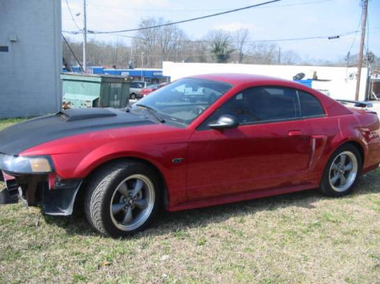 2001 Ford Mustang 4.6 AOD-E- Red & Black - Image 1