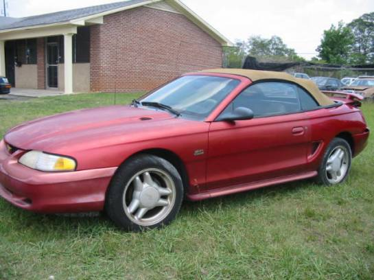 1995 Ford Mustang 5.0 T-5 5-Speed - Red - Image 1