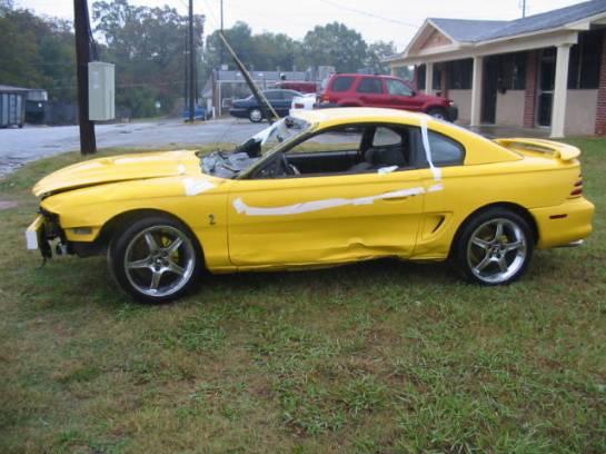 1995 Ford Mustang 5.0 -Cobra Intake 5-Speed - Yellow - Image 1