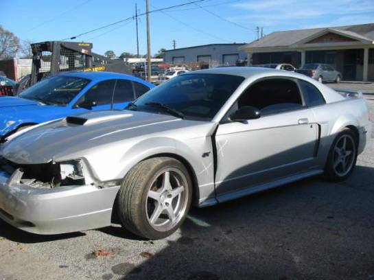 2001 Ford Mustang Coupe 4.6 2V 3650- Silver - Image 1