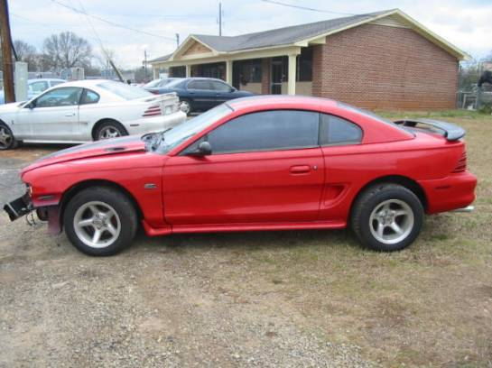 1995 Ford Mustang 5.0 5 Speed - Red & Black - Image 1