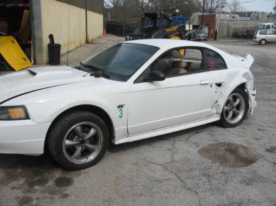 2002 Ford Mustang 4.6L SOHC 3650- White - Image 1