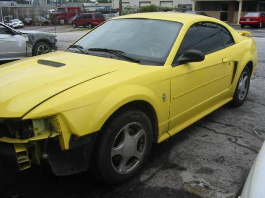 2002 Ford Mustang V-6 Automatic AOD-E- Yellow - Image 1