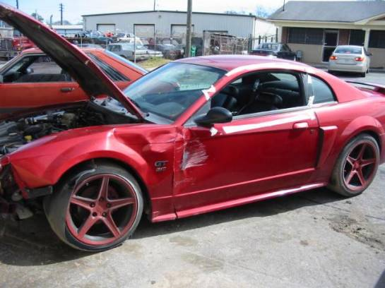 2002 Ford Mustang 4.6 3650- Red - Image 1
