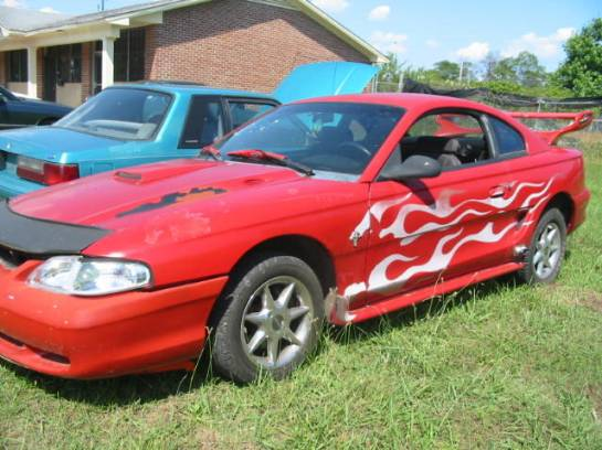 1995 Ford Mustang 6-Cyl AOD-E - Red - Image 1