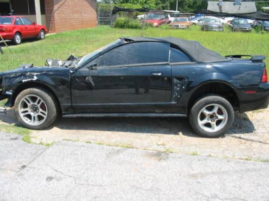 2002 Ford Mustang 4.6 2V T-3650- Black - Image 1