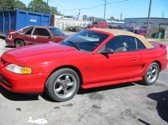1995 Ford Mustang 5.0 Automatic-AODE - Red - Tan Top - Image 1