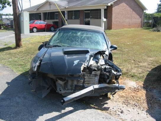 2003 Ford Mustang 4.6 2V 5 spd- black w/ black top - Image 1