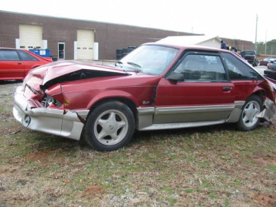 1990 Ford Mustang 5.0 HO T-5 Five Speed - Red & Silver - Image 1
