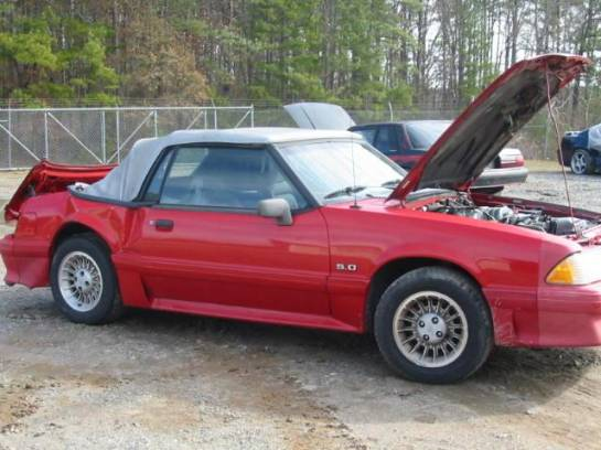 1990 Ford Mustang 5.0 HO T-5 Five Speed - Red - Image 1