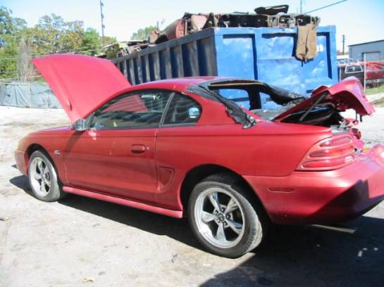 1995 Ford Mustang 5.0 AOD-E Automatic - Red - Image 1