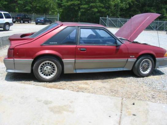 1990 Ford Mustang 5.0 HO T-5 - Red and Gray - Image 1