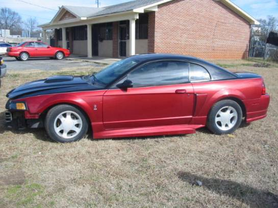 2003 Ford Mustang 4.6 L 5 Speed- Black & Red - Image 1