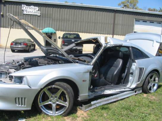 2003 Ford Mustang 4.6supercharged! 5-Speed- Silver - Image 1