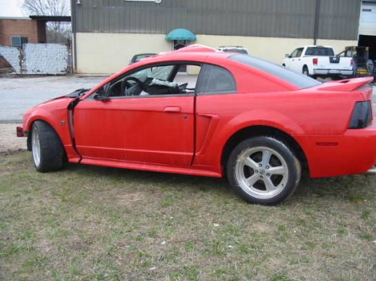 2003 Ford Mustang 4.6 Automatic- Red - Image 1