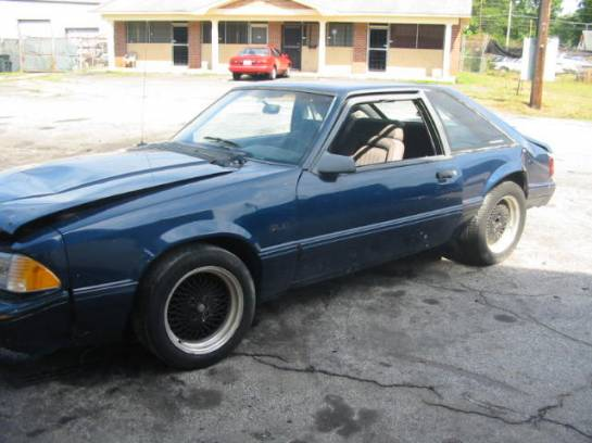1991 Ford Mustang 5.0 HO Automatic - Blue - Image 1