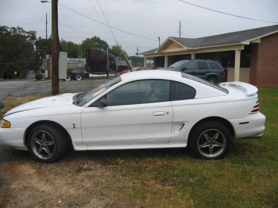 1995 Ford Mustang NO GOOD T-45 - White - Image 1