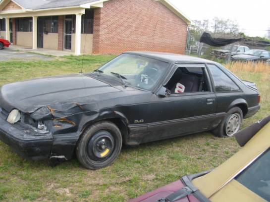 1991 Ford Mustang 5.0 AOD AUTO - Black - Image 1