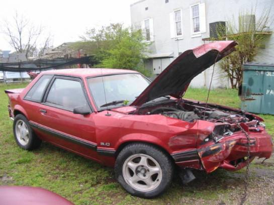 1991 Ford Mustang 5.0 Automatic - Red - Image 1