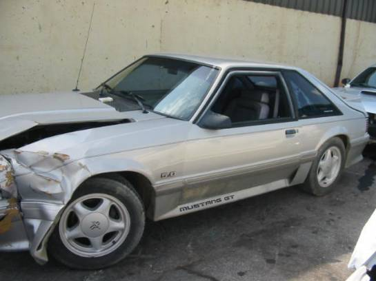 1991 Ford Mustang 5.0 HO Automatic AOD - Silver - Image 1