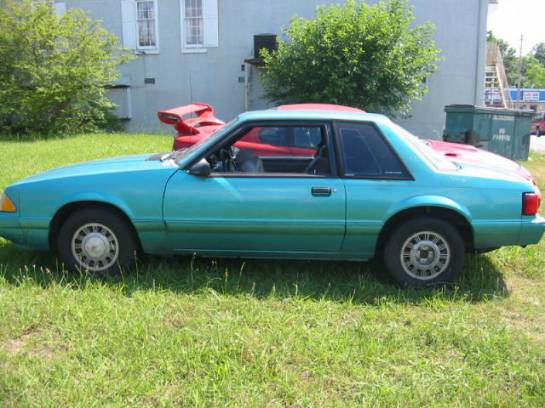 1991 Ford Mustang 4-Cyl Automatic - Blue - Image 1