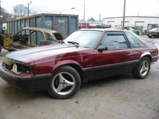 1991 Ford Mustang 5.0 AOD-E - Black/Maroon - Image 1