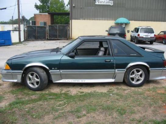 1991 Ford Mustang 5.0 HO AOD Automatic - Green & Silver - Image 1