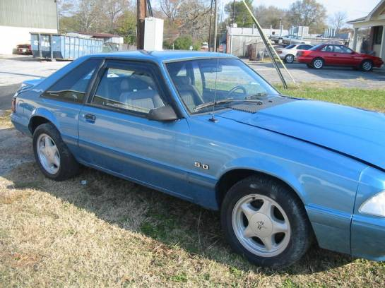 1992 Ford Mustang 5.0L HO Automatic - Blue - Image 1