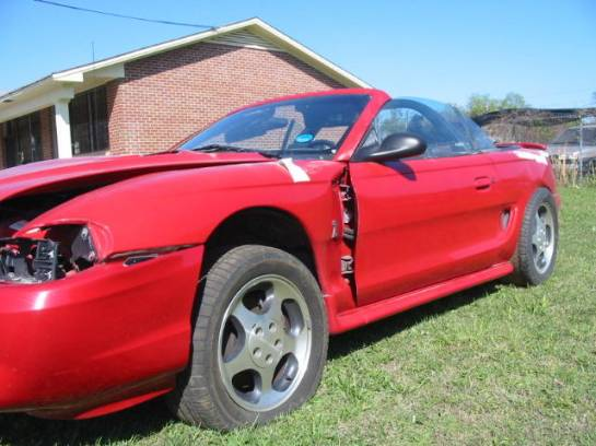1997 Ford Mustang 4.6L DOHC T-45 - Red - Image 1